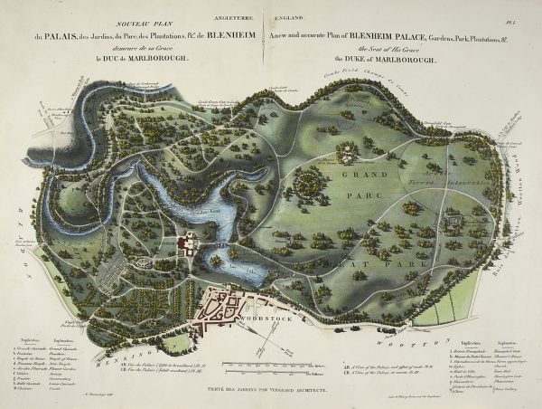 Brown's Blenheim Palace layout