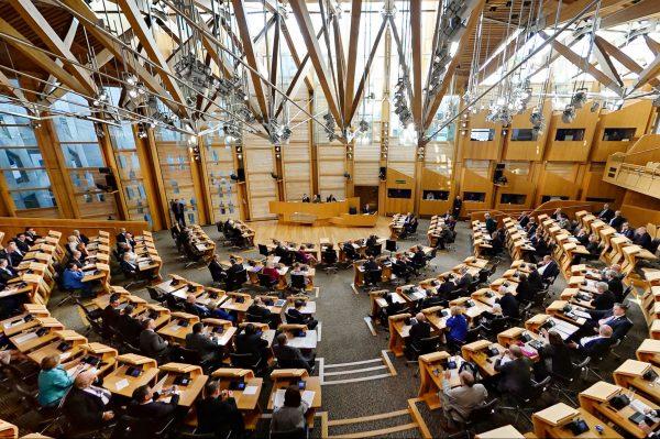 Debating chamber Scottish Parliament