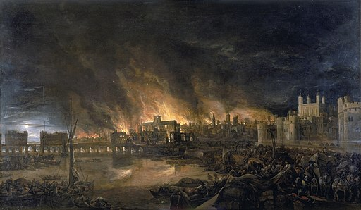 The Great Fire of London September 1666 artist unknown