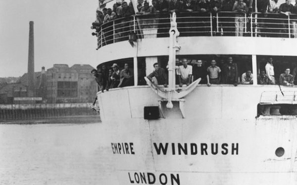 Empire Windrush. London Docks