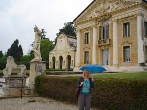 Diana at the Villa Barbaro in the rain
