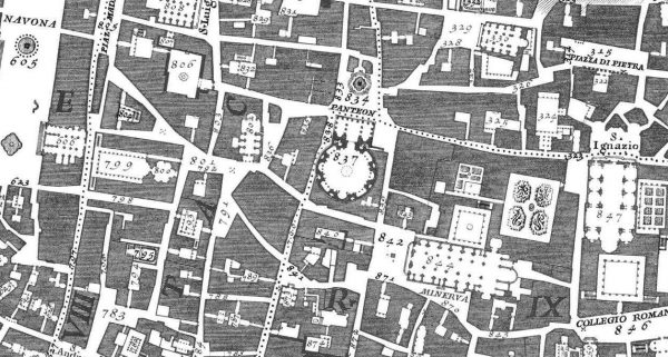 Nolli Map of Rome (detail) 1748