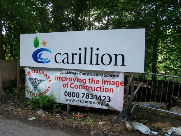 Carillion signboard photo Terry Robinson