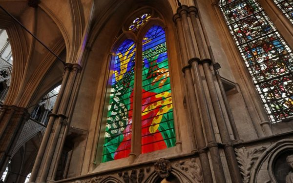The Queen's Window at Westminster Abbey by David Hockney photo Westminster Abbey